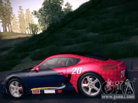 Porsche Cayman S 2014 for GTA San Andreas interior