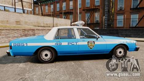 Chevrolet Caprice 1987 NYPD for GTA 4 left view