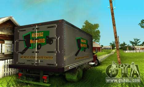 GMC Top Kick C4500 Dryvan House Movers 2008 for GTA San Andreas inner view