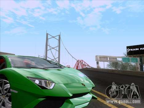 Lamborghini Aventador LP720-4 2013 for GTA San Andreas upper view