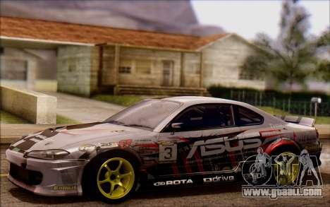 Nissan S15 Asus Team for GTA San Andreas
