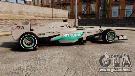 Mercedes AMG F1 W04 v5 for GTA 4 left view