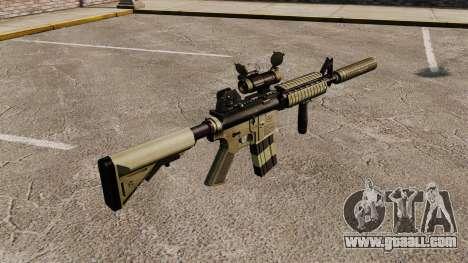 M4 carbine with silencer v1 for GTA 4 second screenshot