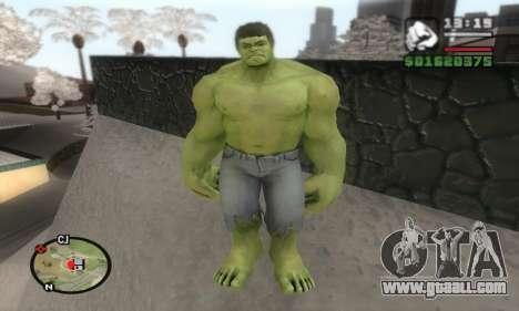 Hulk for GTA San Andreas second screenshot