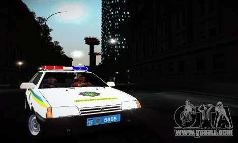 VAZ 2108 Ukraine REC for GTA San Andreas left view