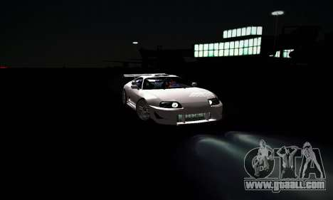 Toyota Supra for GTA San Andreas bottom view