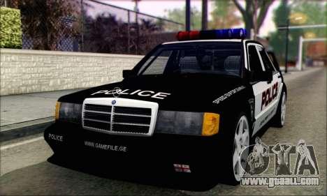 Mercedes-Benz 190E Evolution Police for GTA San Andreas