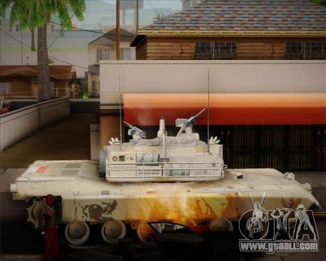 Abrams Tank Indonesia Edition for GTA San Andreas left view