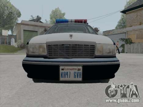 Chevrolet Caprice LVPD 1991 for GTA San Andreas back view