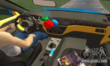 Mitsubishi Evo IX Wagon S-Tuning for GTA San Andreas interior