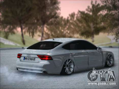 Audi A7 for GTA San Andreas back left view