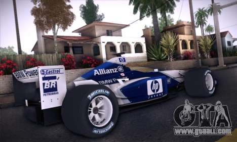 BMW Williams F1 for GTA San Andreas back view