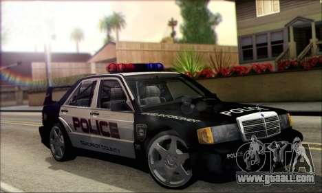 Mercedes-Benz 190E Evolution Police for GTA San Andreas right view