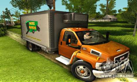 GMC Top Kick C4500 Dryvan House Movers 2008 for GTA San Andreas left view