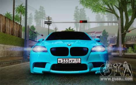 BMW M5 F10 v1 for GTA San Andreas back left view