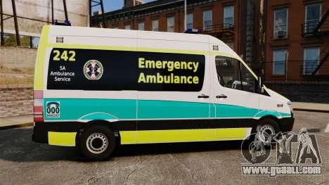 Mercedes-Benz Sprinter Australian Ambulance ELS for GTA 4 left view