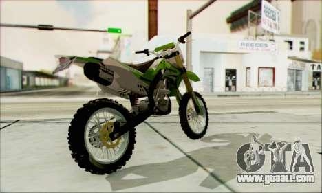 Kawasaki KLX 150 SE for GTA San Andreas left view