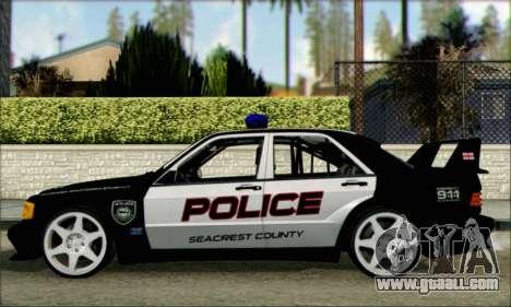 Mercedes-Benz 190E Evolution Police for GTA San Andreas left view