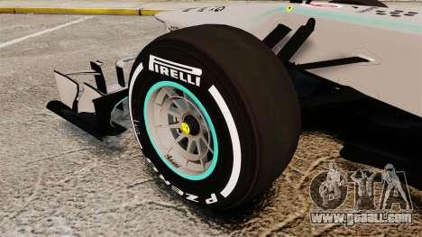 Mercedes AMG F1 W04 v5 for GTA 4 back view