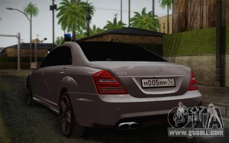 Mercedes-Benz S65 AMG for GTA San Andreas left view
