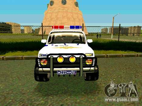 VAZ 212140 Police for GTA San Andreas back view