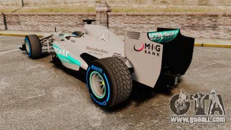 Mercedes AMG F1 W04 v2 for GTA 4 back left view
