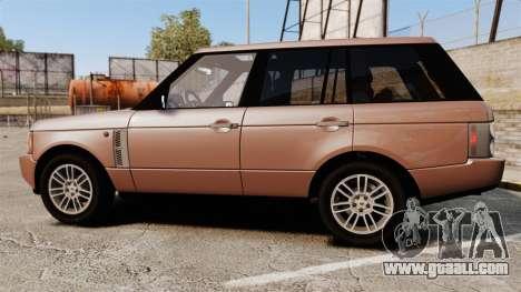Range Rover TDV8 Vogue for GTA 4 left view