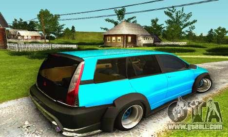 Mitsubishi Evo IX Wagon S-Tuning for GTA San Andreas back view