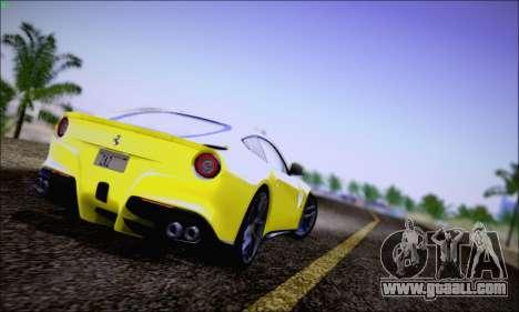 Ferrari F12 Berlinetta Horizon Wheels for GTA San Andreas back left view