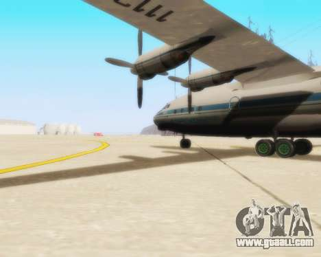 The an-12 Aeroflot for GTA San Andreas back left view
