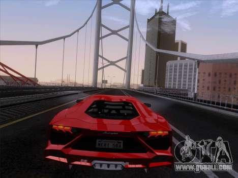 Lamborghini Aventador LP720-4 2013 for GTA San Andreas inner view