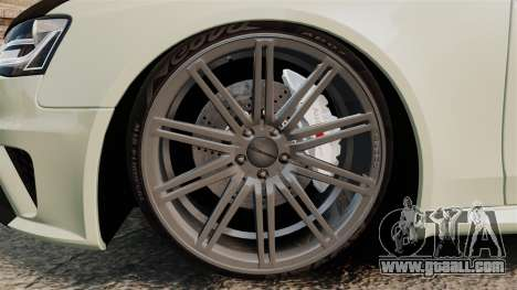 Audi RS4 Avant VVS-CV4 2013 for GTA 4 back view