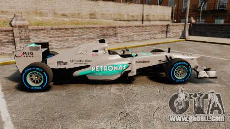 Mercedes AMG F1 W04 v2 for GTA 4 left view