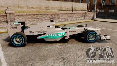 Mercedes AMG F1 W04 v2 for GTA 4 left view