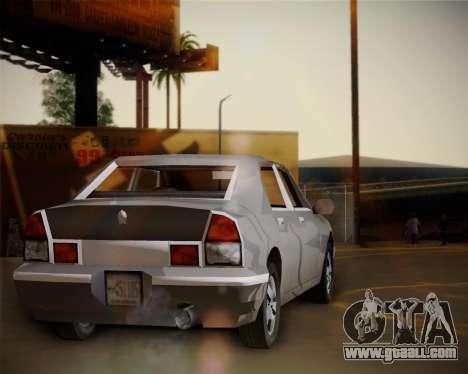 GTA III Kuruma for GTA San Andreas back left view