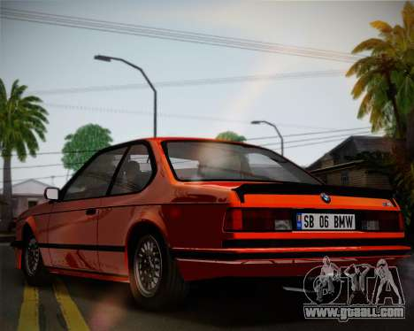 BMW E24 M635 1984 for GTA San Andreas inner view