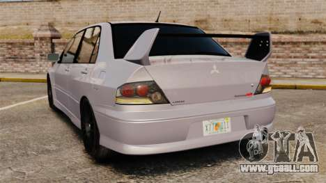 Mitsubitsi Lancer MR Evolution VIII 2004 Stock for GTA 4 back left view