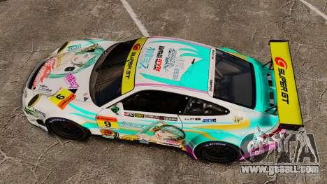 Porsche GT3 RSR 2008 Hatsune Miku for GTA 4 right view