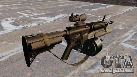 Automatic carbine M4 C-Mag for GTA 4 second screenshot