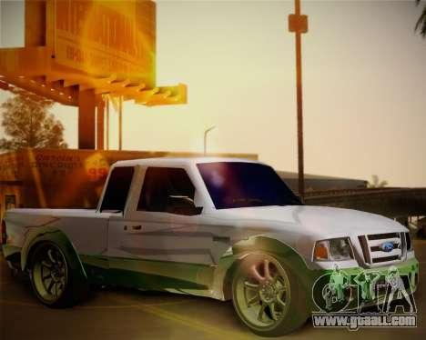 Ford Ranger 2005 for GTA San Andreas inner view