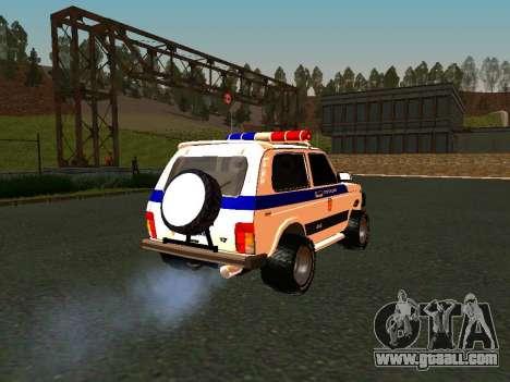 VAZ 212140 Police for GTA San Andreas inner view