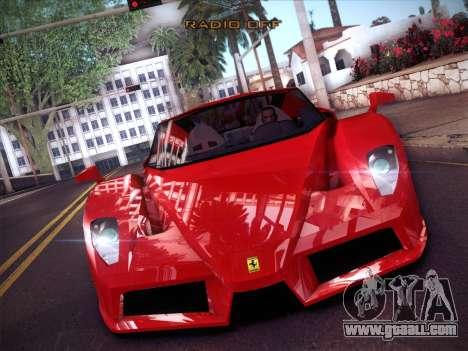 Ferrari Enzo 2003 for GTA San Andreas inner view
