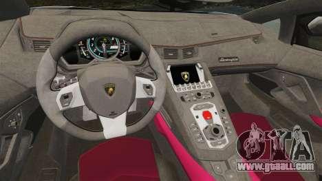 Lamborghini Aventador LP700-4 LE-C 2014 for GTA 4 inner view