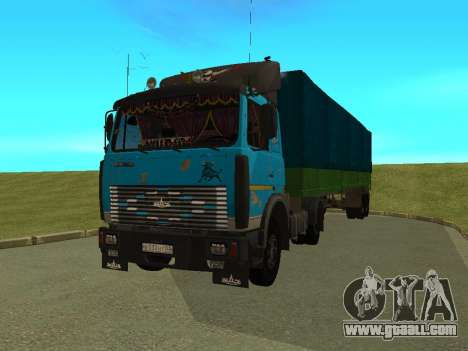 MAZ 54320 for GTA San Andreas back view