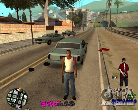 HUD The Ballas By Santiago for GTA San Andreas third screenshot
