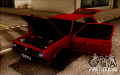 Volkswagen Golf Mk1 TAS for GTA San Andreas back left view