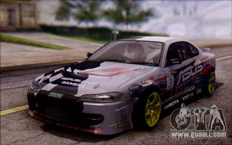 Nissan S15 Asus Team for GTA San Andreas back left view