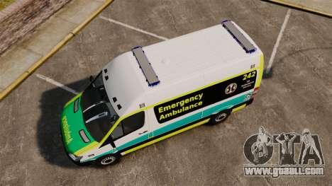 Mercedes-Benz Sprinter Australian Ambulance ELS for GTA 4 right view