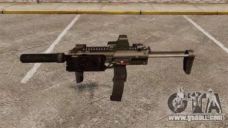 HK MP7 submachine gun Sopmod for GTA 4 third screenshot