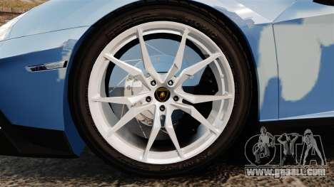 Lamborghini Aventador LP700-4 LE-C 2014 for GTA 4 back view
